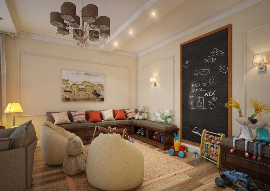 Kinderspielecke-Wohnzimmer Ideen
