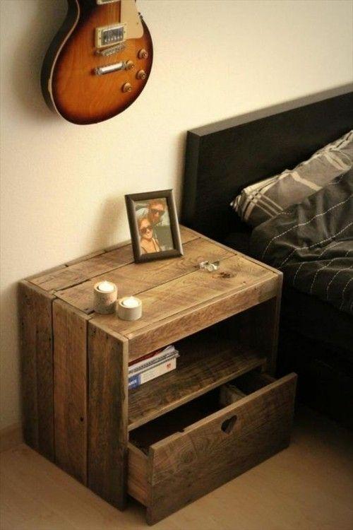 Möbel aus Paletten Nachttisch