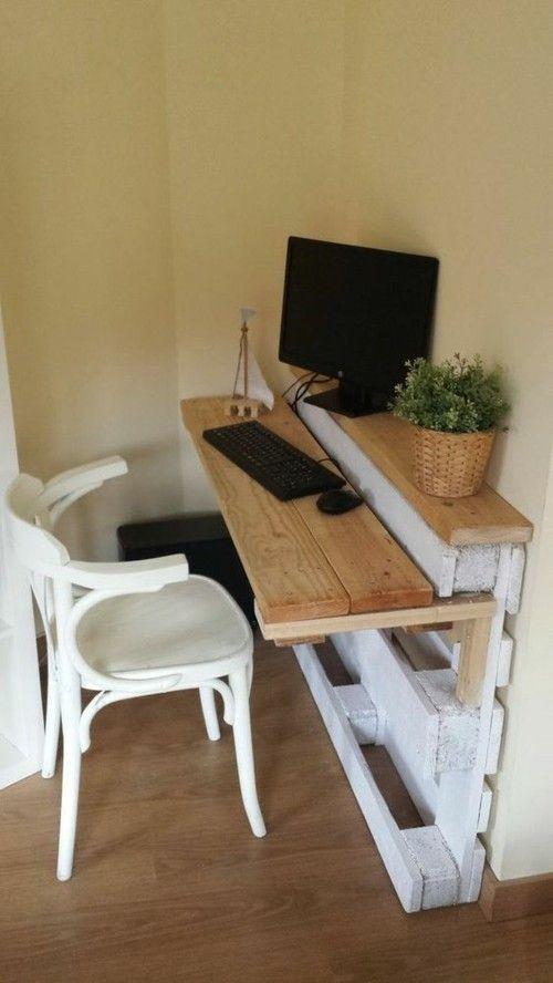 Möbel aus Paletten Schreibtisch