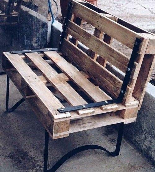 Möbel aus Paletten Sitzbank - Garten ideen