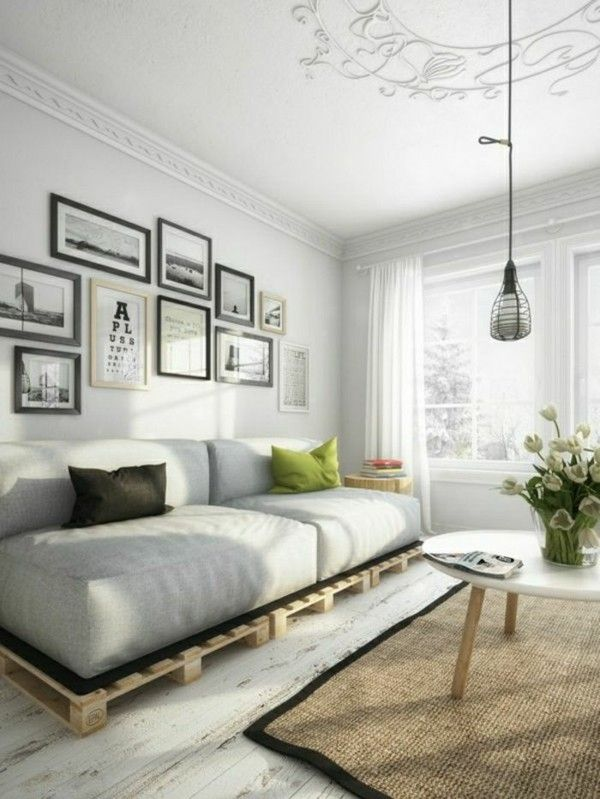 sofa aus paletten ein praktisches m bel f r drinnen und drau en. Black Bedroom Furniture Sets. Home Design Ideas