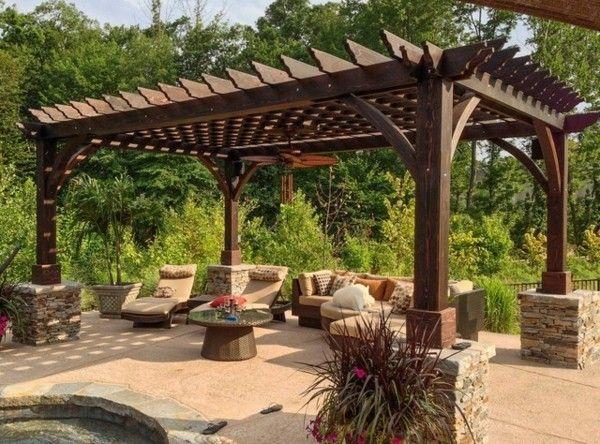 Pergola im garten vereinbart sthetische und praktische - Garten pergola holz ...