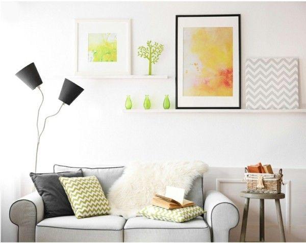 Schöne Bilder und Glasvasen