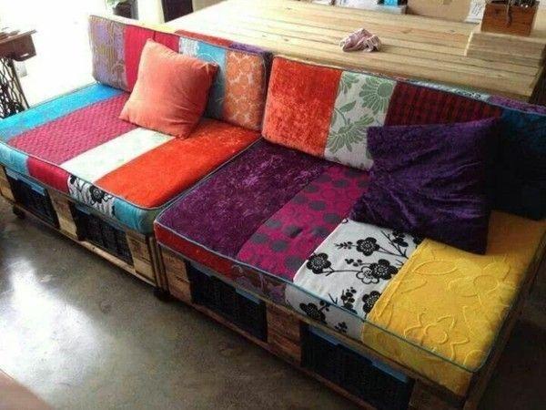 Sofa aus paletten ein praktisches m bel f r drinnen und for Schlafsofa paletten