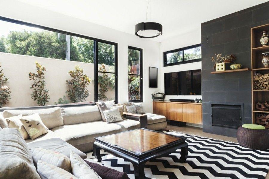 TV-Wand-Wohnzimmer Ideen