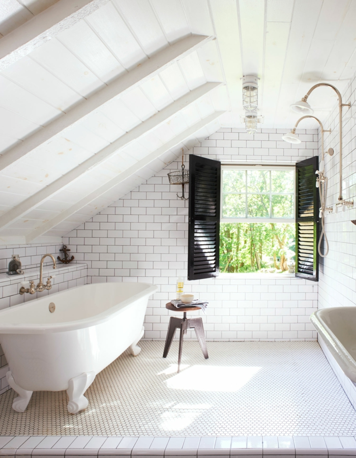 Badezimmer auf dem dachboden viel ruhe mit einer prise - Badezimmer vintage ...