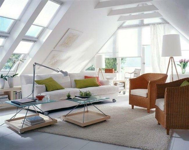Wohnzimmer auf dem dachboden echtes symbol f r gem tlichkeit und stil - Wohnzimmer dachgeschoss ...