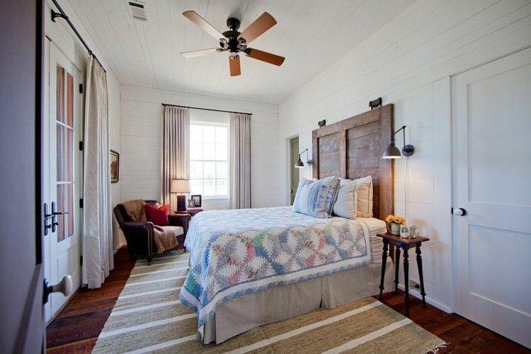 bescheiden badezimmer modern rustikal - schlafzimmer deko ideen f r das kopfbrett aus holz