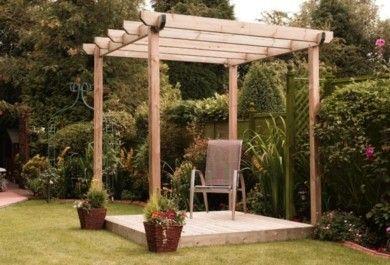 Pergola im garten vereinbart sthetische und praktische - Gartengestaltung pergola ...