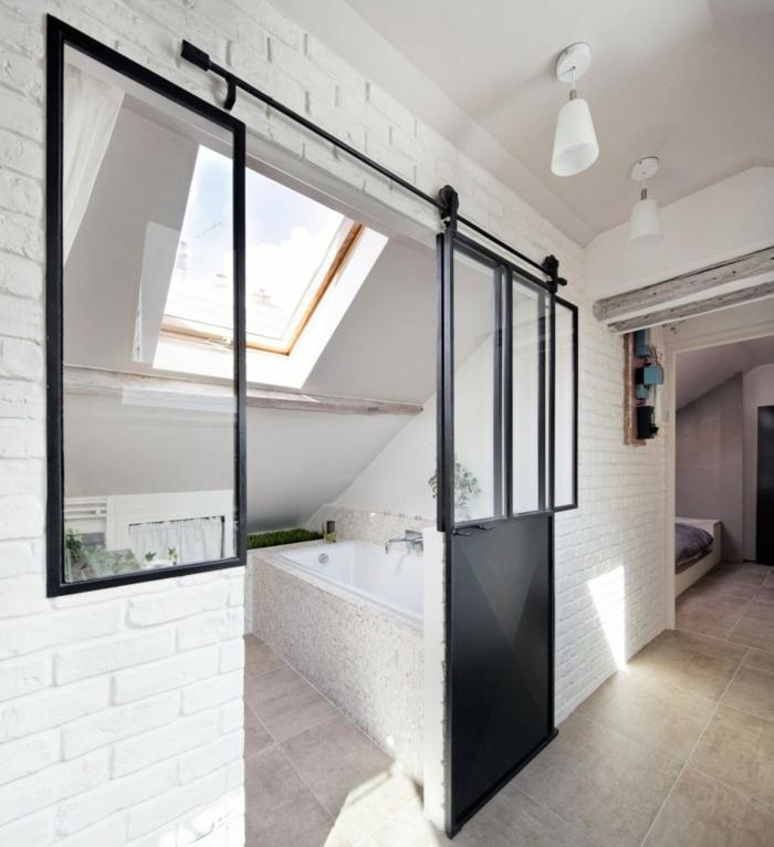 badezimmer auf dem dachboden viel ruhe mit einer prise. Black Bedroom Furniture Sets. Home Design Ideas