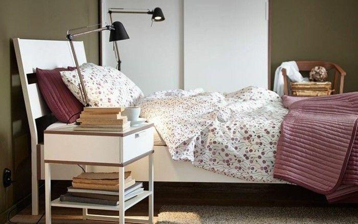 schöne Bettwäsche - Lampe Ikea