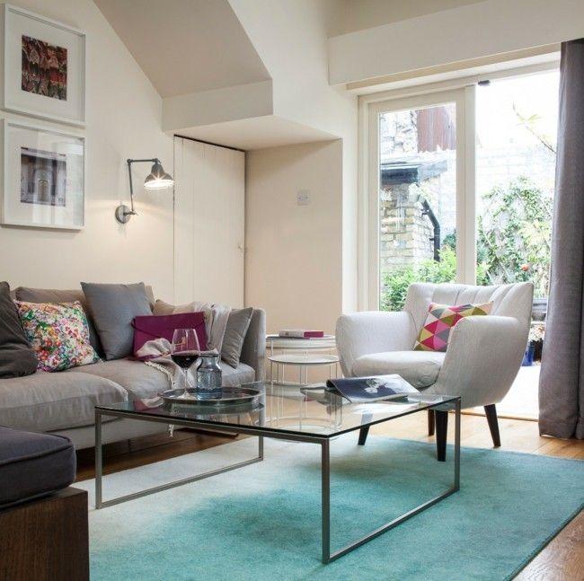 Wohnzimmer Einrichten, Moderne Teppiche Für Wohnzimmer - Trendomat.com Blauer Teppich Wohnzimmer
