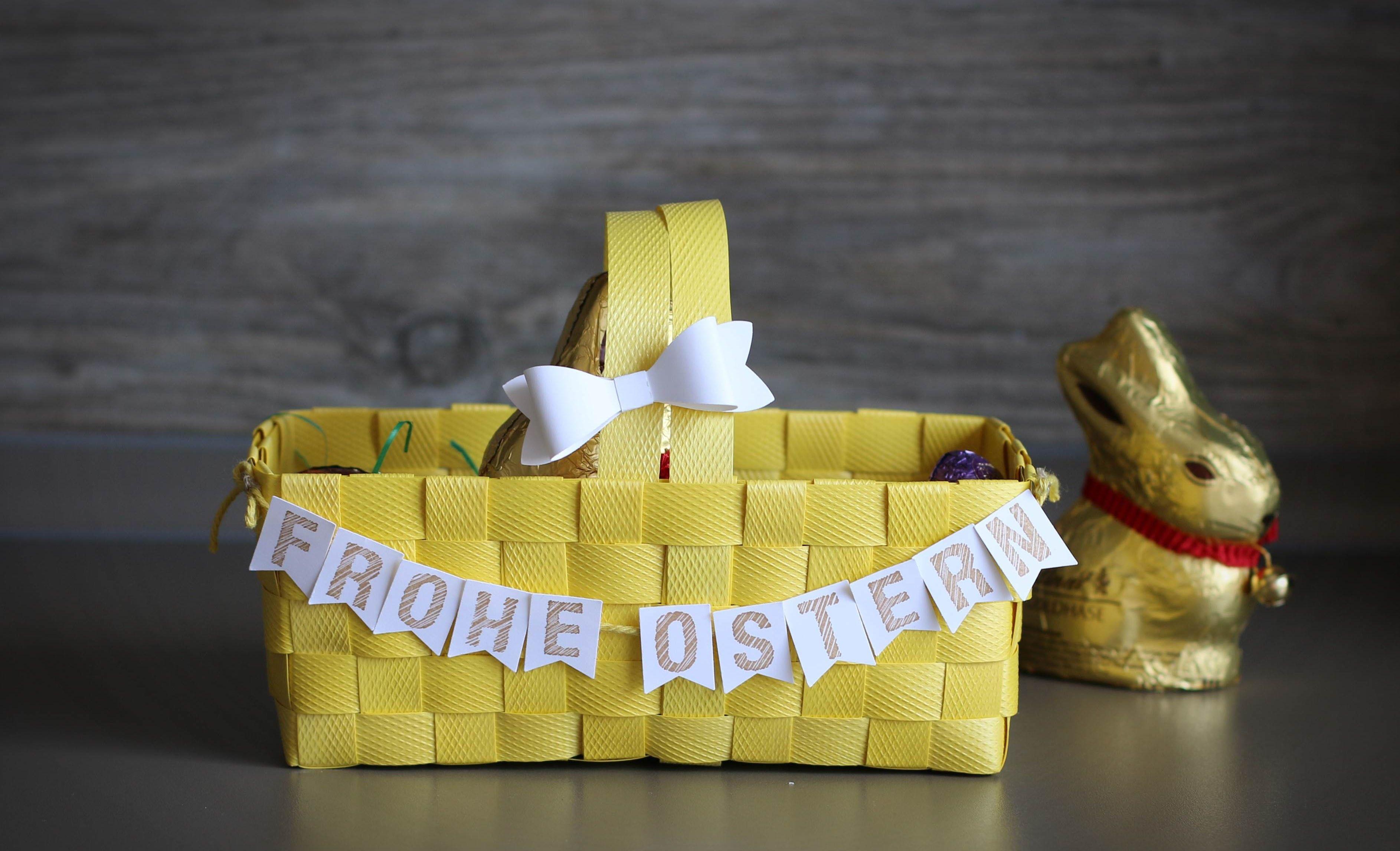 deko ideen zu ostern einen sch nen osterkorb kann jeder selber basteln. Black Bedroom Furniture Sets. Home Design Ideas