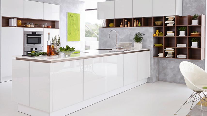 Einrichtung Von Küchen In Weiß Und Grau Trendomatcom
