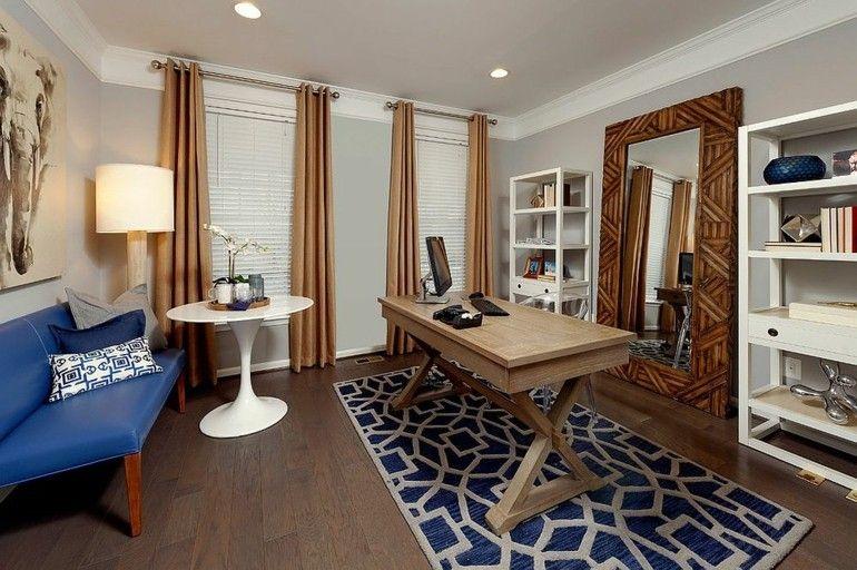 Tolle deko ideen wie sie farbe in ihr graues home office for Interieur gegenteil