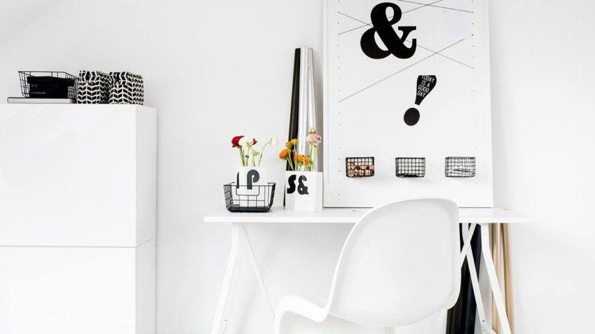 Tolle Deko Ideen, wie Sie Farbe in Ihr graues Home Office einführen ...