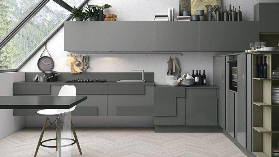 Küche mit modernen geometrischen Formen einrichten - Trendomat.com