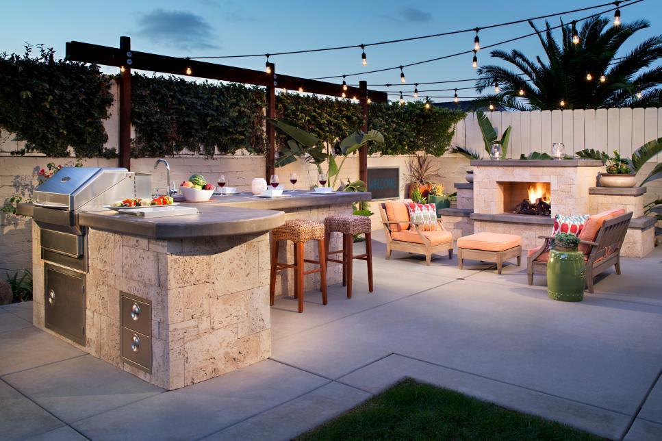Gartengestaltung Mit Outdoor Küche : ▷ ideen für outdoor küche für angenehmes abendessen im freien