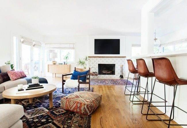 Wohnzimmer einrichten, moderne Teppiche für Wohnzimmer - Trendomat.com