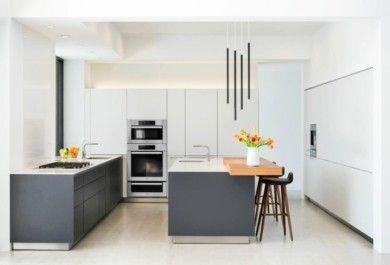 einrichtung von k chen in wei und grau. Black Bedroom Furniture Sets. Home Design Ideas