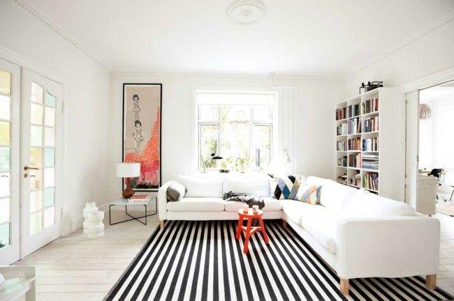 Wohnzimmer Einrichten, Moderne Teppiche Für Wohnzimmer - Trendomat.com Moderne Eingerichtete Wohnzimmer