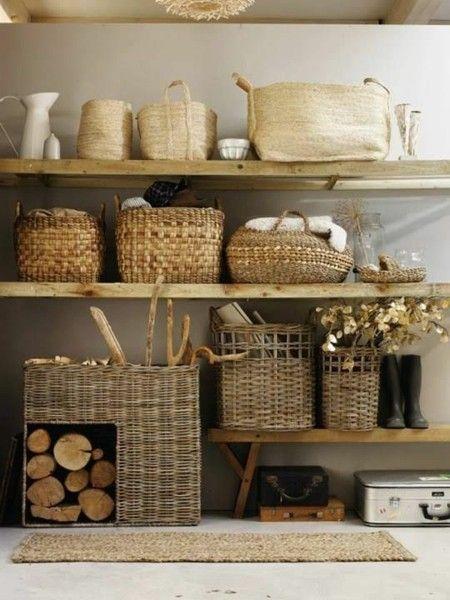 moderne gestaltungsideen mit flechtk rben in der innendekoration. Black Bedroom Furniture Sets. Home Design Ideas