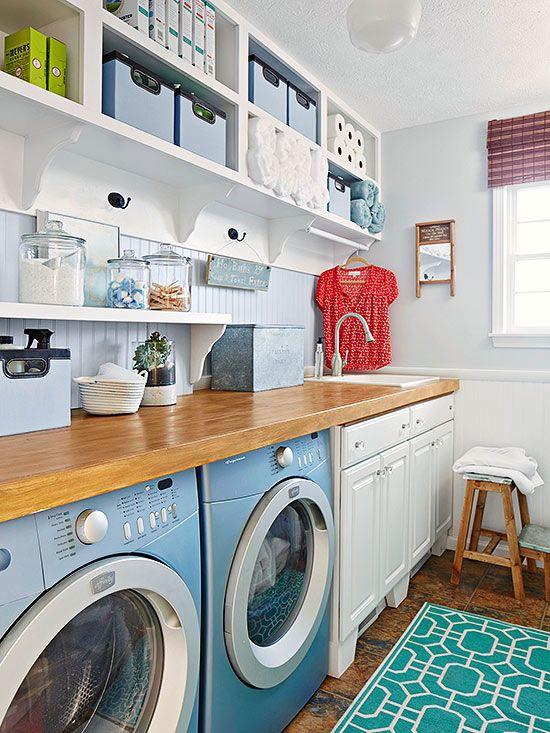 kreative ideen f r eine moderne waschk che. Black Bedroom Furniture Sets. Home Design Ideas