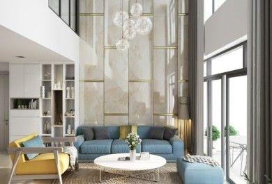 Wohnzimmereinrichtung Mit Hohen Decken Sorgt Für Luxusgefühl   Trendomat.com