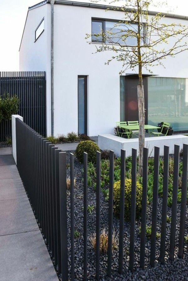 Vorgarten gestaltungsideen clevere und praktische tipps wie sie ihre g ste und nachbarn - Design gartenzaun ...