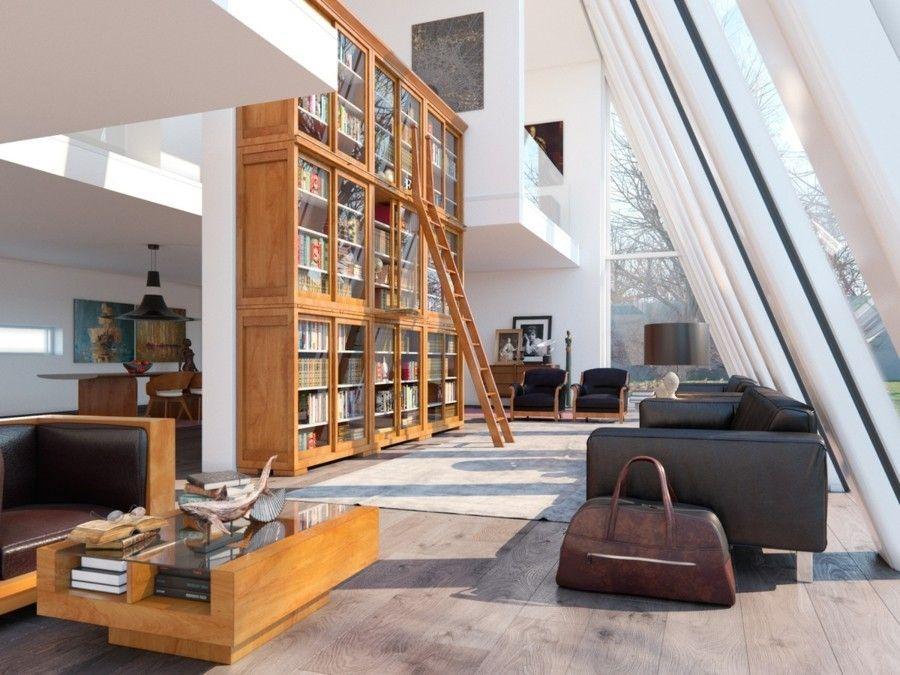 Wohnzimmereinrichtung Mit Hohen Decken Sorgt Fur