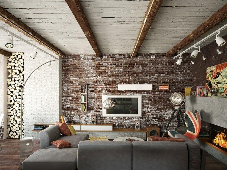 Wir Haben Hier Viele Auffallende Gestaltungselemente Freigelegte Ziegelwand