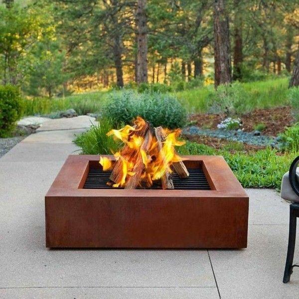 offene feuerstelle im garten sp ren sie die w rme und. Black Bedroom Furniture Sets. Home Design Ideas