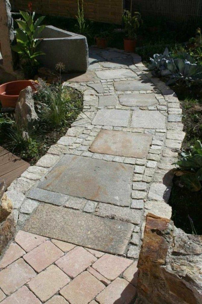 Gartenwege stilvoll anlegen und viel sthetik drau en bewundern - Gartenwege gestalten naturstein ...