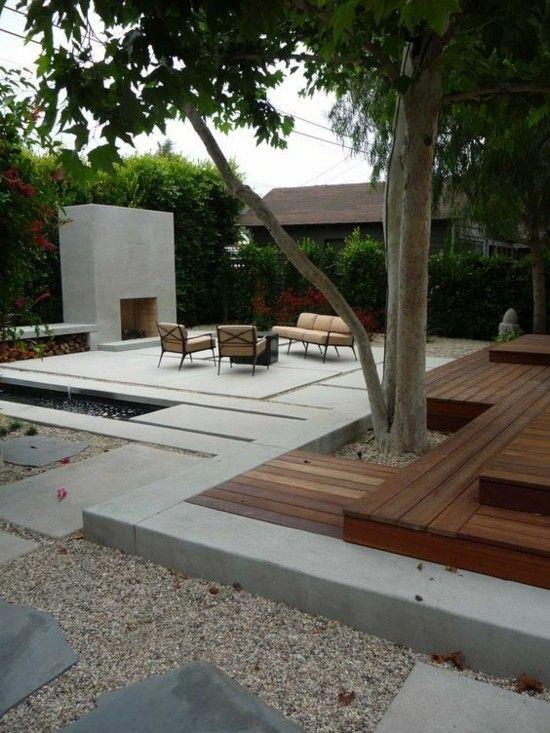 Terrassengestaltung steinplatten garten design ideen um - Terrassengestaltung ideen ...