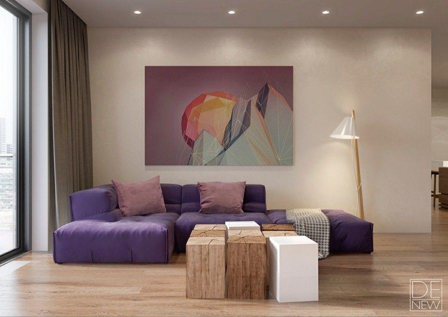 kunst in der wohnzimmereinrichtung. Black Bedroom Furniture Sets. Home Design Ideas