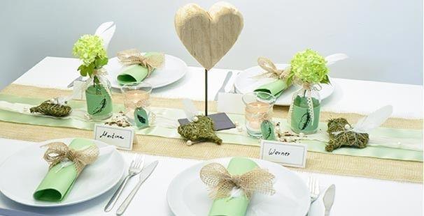 Ausgefallene und stilvolle tischdeko ideen dekorieren for Tischdeko hochzeit holz