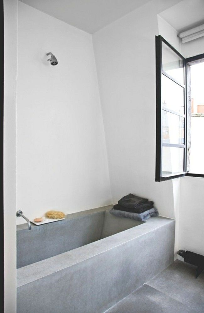 coole ideen f r beton im bad strenge und gehobene sthetik in einem. Black Bedroom Furniture Sets. Home Design Ideas