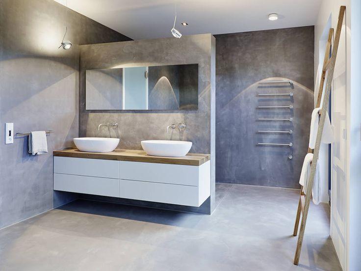 Coole Ideen Für Beton Im Bad Strenge Und Gehobene Ästhetik In Einem
