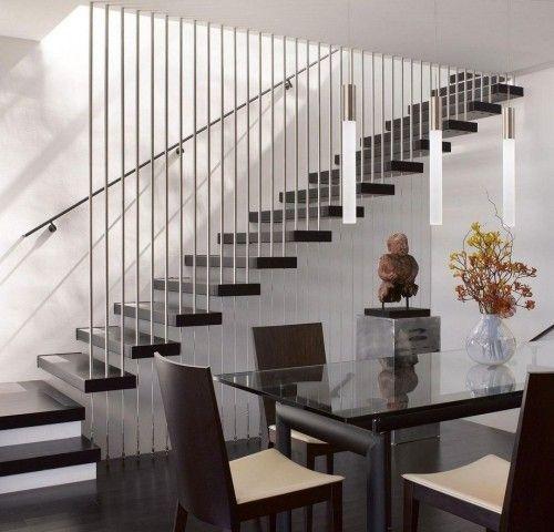 Moderne Treppen schickes Treppendesign schreibt sich nahtlos in den Raum ein