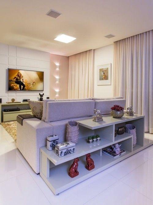 regal hinter sofa spart platz und schafft neues raumgef hl. Black Bedroom Furniture Sets. Home Design Ideas