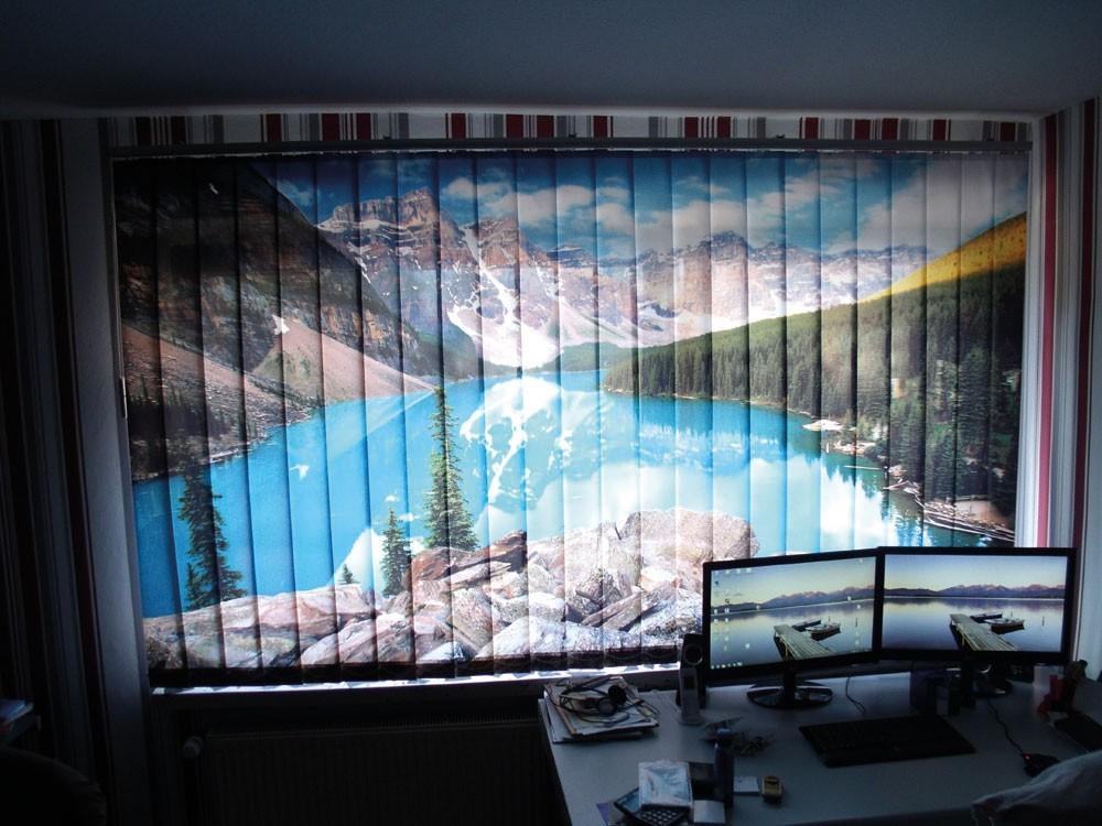 Bedruckte Vorhänge Foto-Schiebegardinen Fotolamellen Office romantisch aussehen
