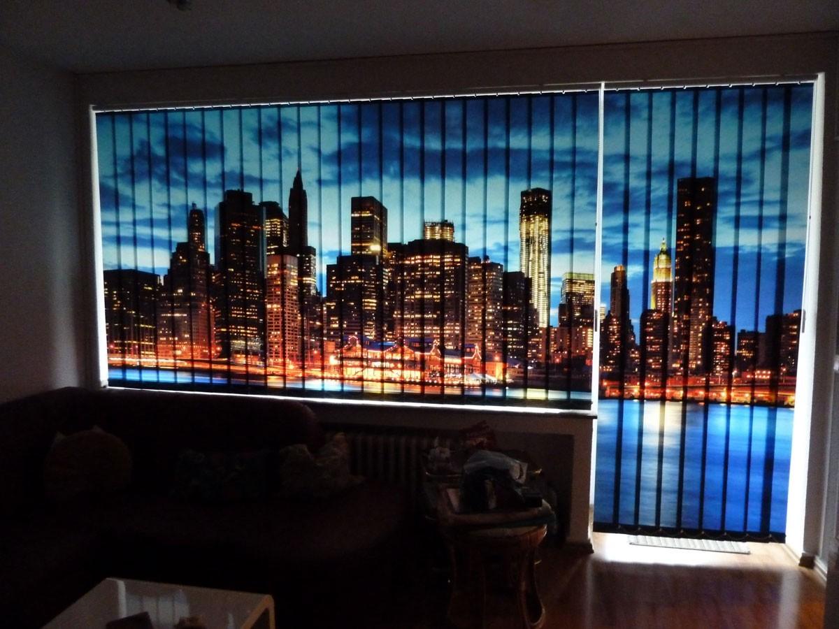 Bedruckte Vorhänge Foto-Schiebegardinen Fotolamellen Skylines den Raum verdunkeln
