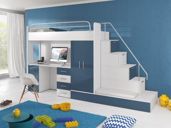 hochbett mit schrank vereinigt sicherheit und sthetik in einem modernen design