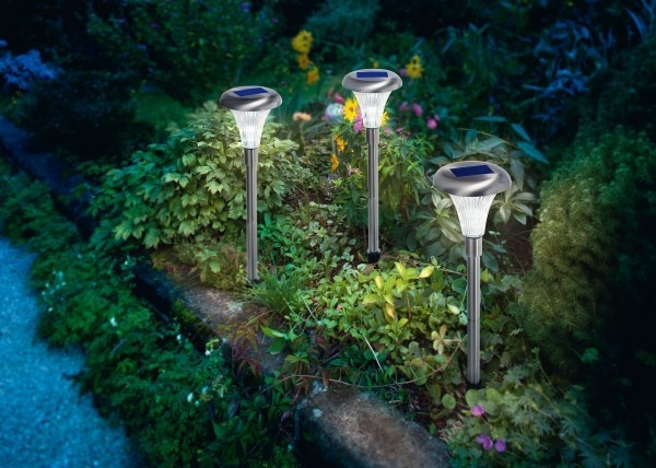Solar Leuchten für den Garten die Gartenwege beleuchten