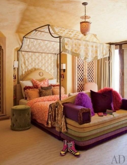 Marokkanisches Schlafzimmer voller Mystik Exotik Romantik einzigartiges Zimmerdesign