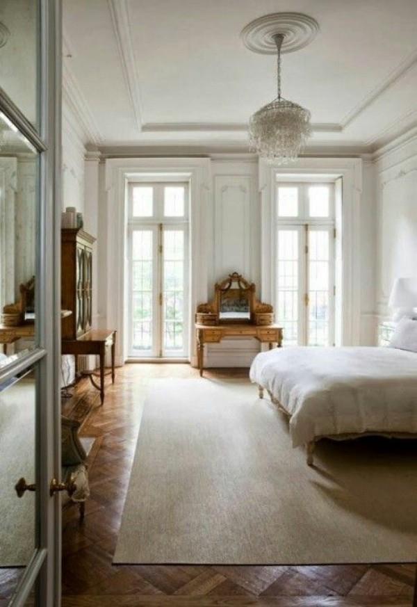 Pariser Chic im Schlafzimmer Ruhe Eleganz Luxus Raffinesse sehr einladendes Ambiente