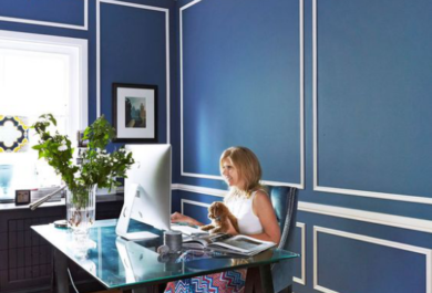 Drei Farben fürs Heimbüro, die Gemütlichkeit schaffen und ...