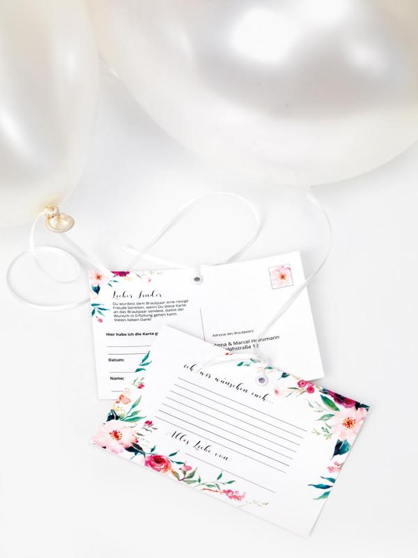 Ballonkarten für die Hochzeit verschiedene Gestaltungsmöglichkeiten auch individuell gestalten