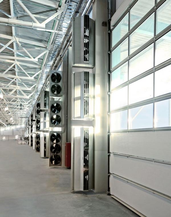 Luftschleier – Gute Klimazonentrennung im Betriebsbereich geht so schnelllauftore firma und luftvorhänge