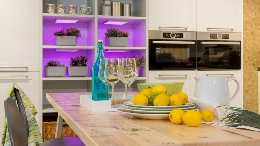 Moderne Küche in Purpur - attraktiv und sehr elegant ...
